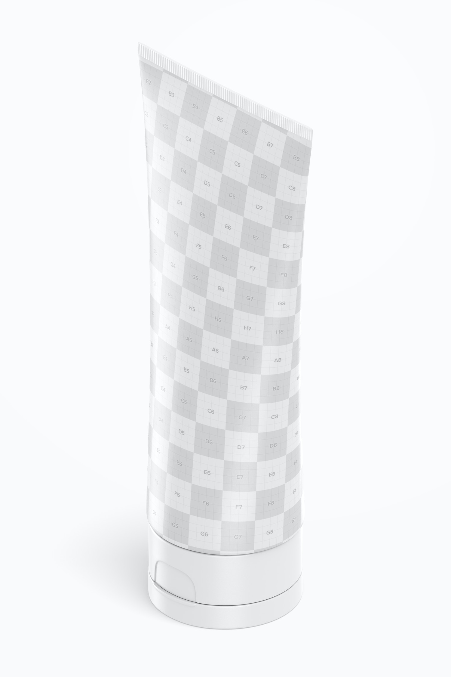 180 ml Cosmetic Tube Mockup, Isometric Right View