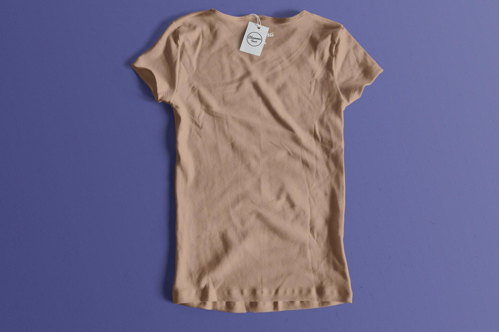 Woman Back T-Shirt Mockup 01