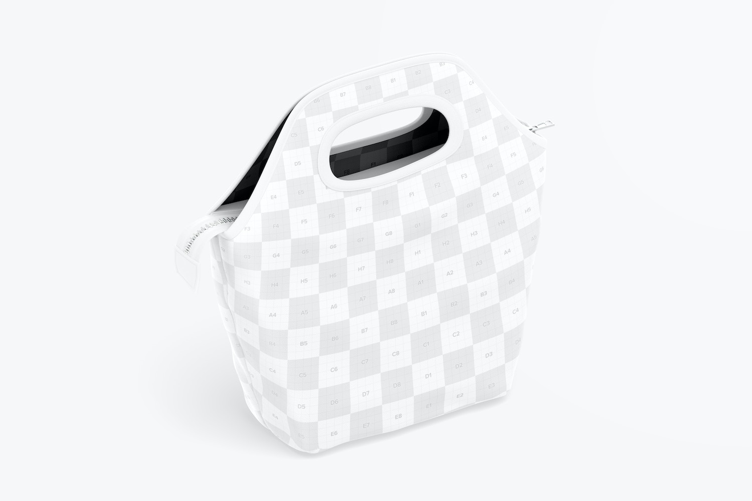 Lunch Bag Mockup, Isometric Right View