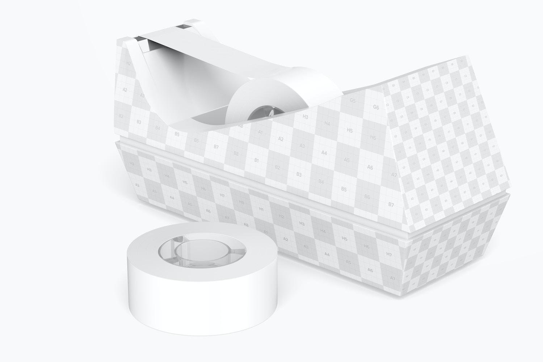 Tape Dispenser Mockup, Back View