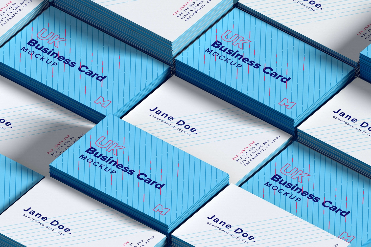 UK Business Cards Mockup 01 by Original Mockups on Original Mockups