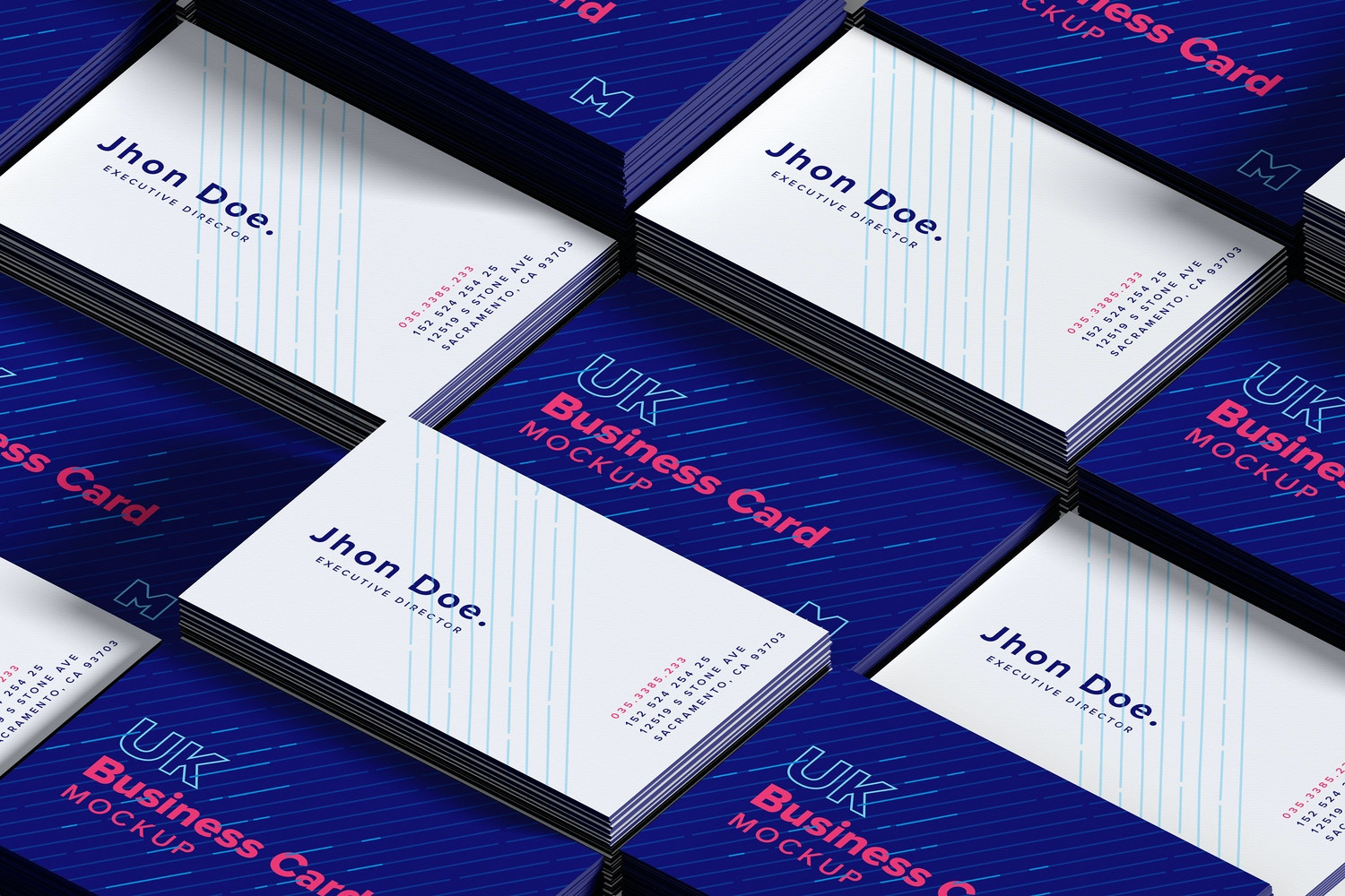 Stacks of UK Business Cards Mockup – Original Mockups