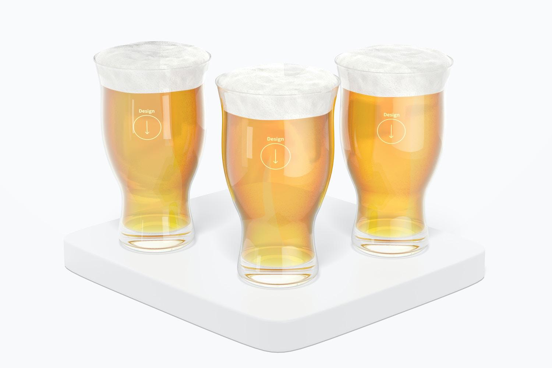 16 oz Pint Beer Glass Set Mockup