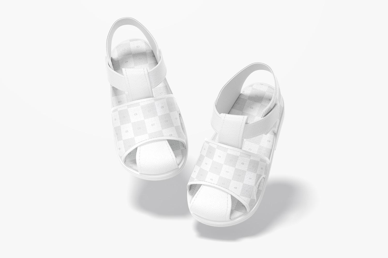 Baby Shoes Mockup, Falling