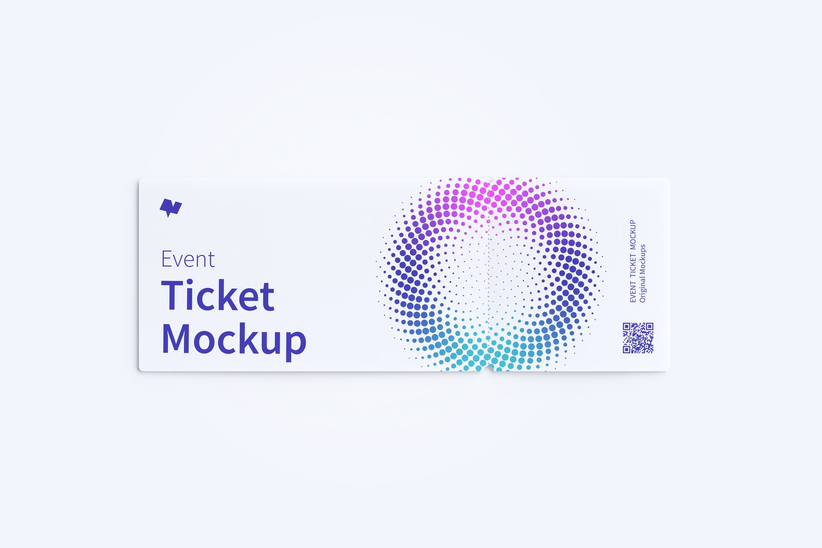 Event Ticket Mockup, Top View
