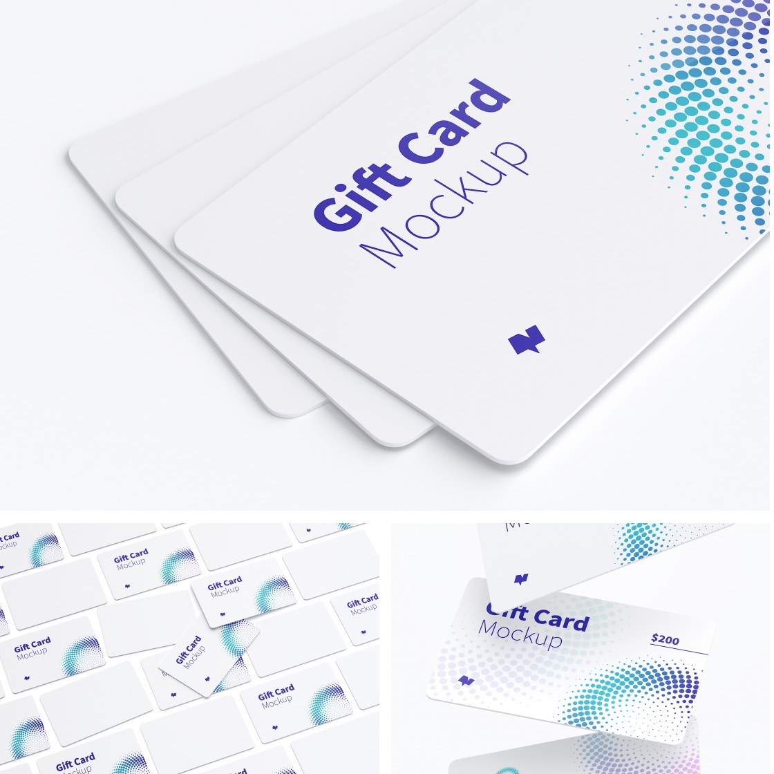 Gift Card Mockups by Original Mockups on Original Mockups