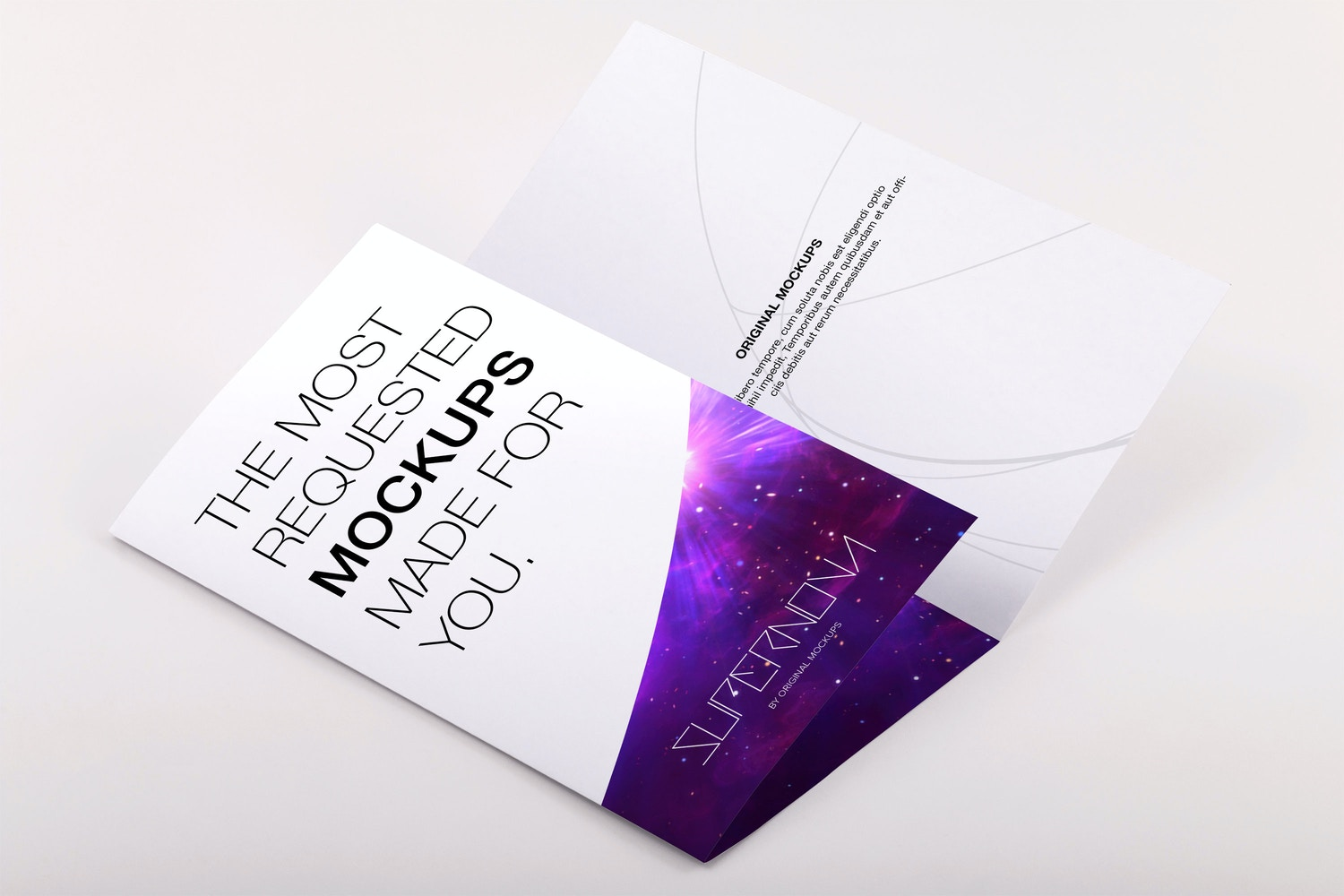 Legal Trifold Brochure PSD Mockup 02 by Original Mockups on Original Mockups