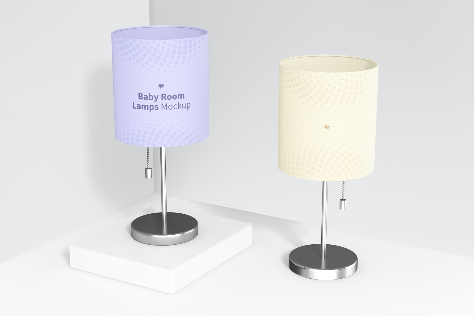 Baby Room Lamps Mockup, Perspective