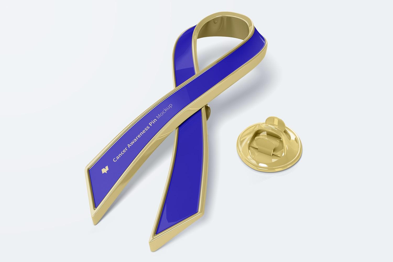 Cancer Awareness Pin Mockup