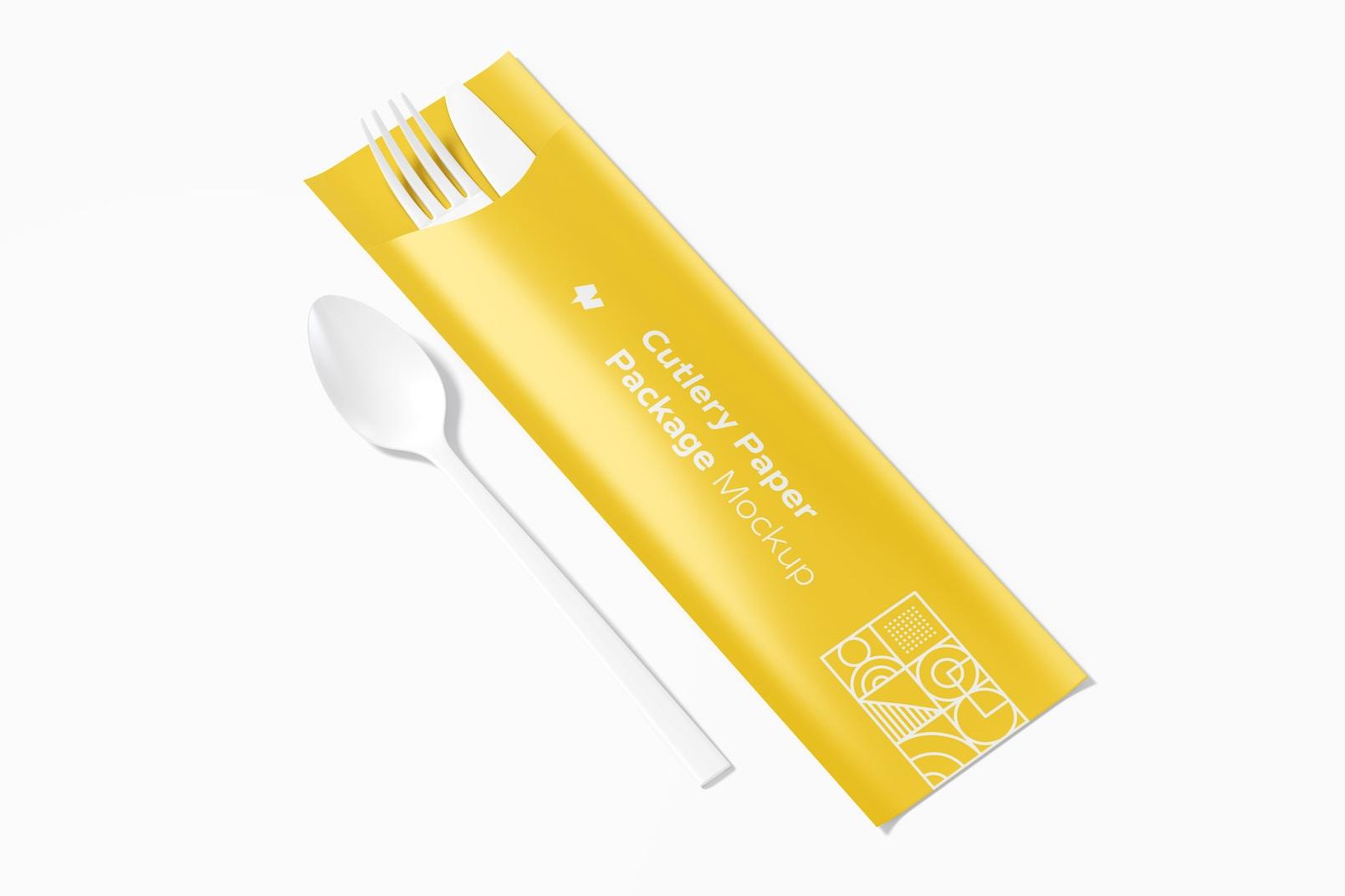 Cutlery Paper Package Mockup