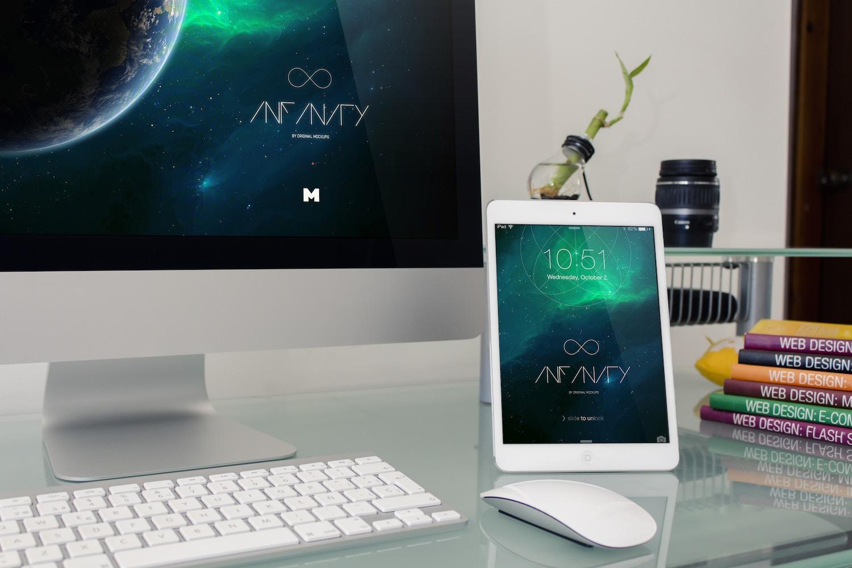 Desktop Device Mockup 2 by Original Mockups on Original Mockups