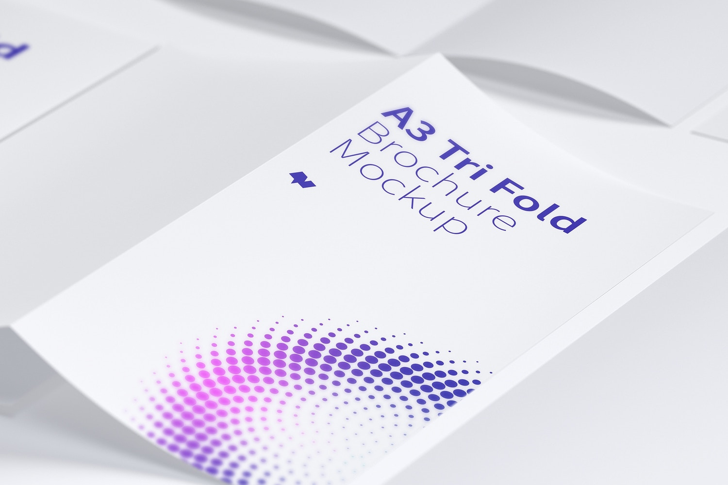 A3 Trifold Brochure Mockup 04 by Original Mockups on Original Mockups