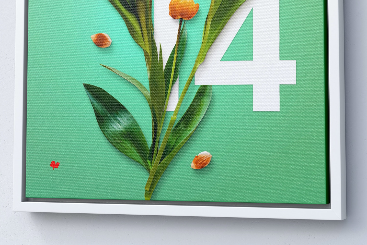 11:14 Portrait Canvas Mockup in Floater Frame, Right View