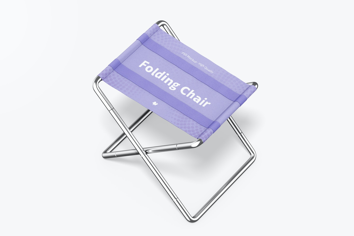 Folding Chairs Mockup, Perspective