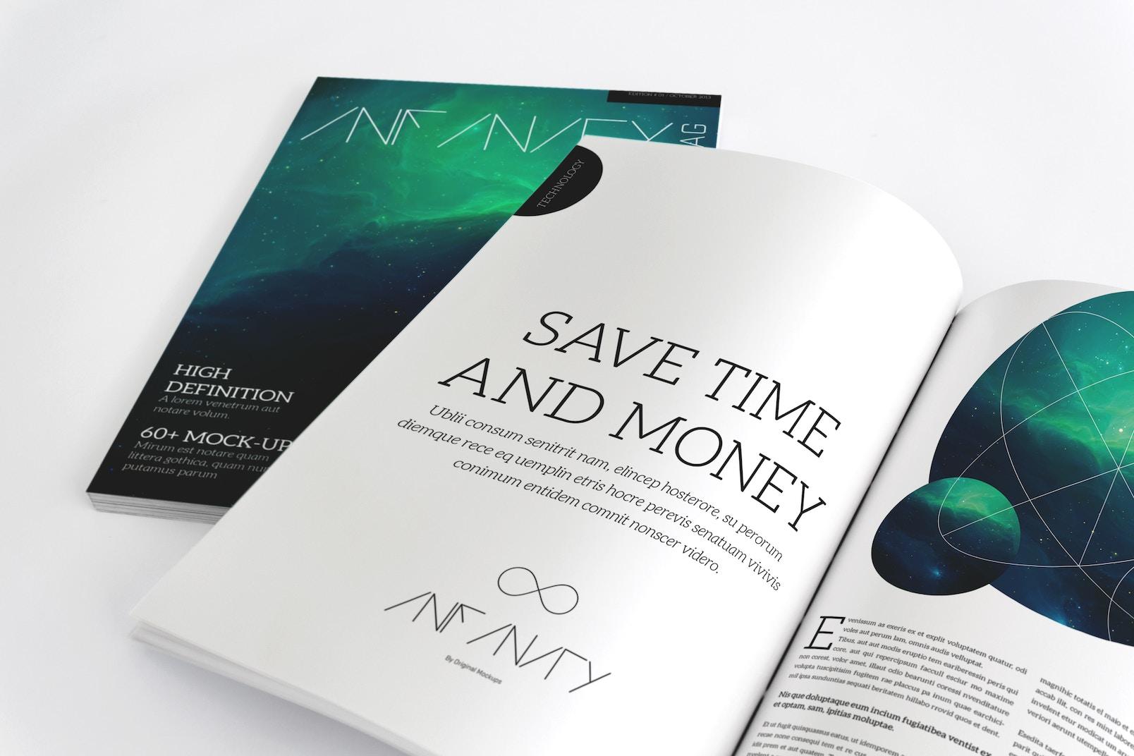 Maqueta de Revista A4 para Paginas Internas y Portada 02