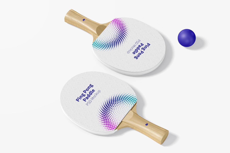 Ping Pong Paddles Mockup