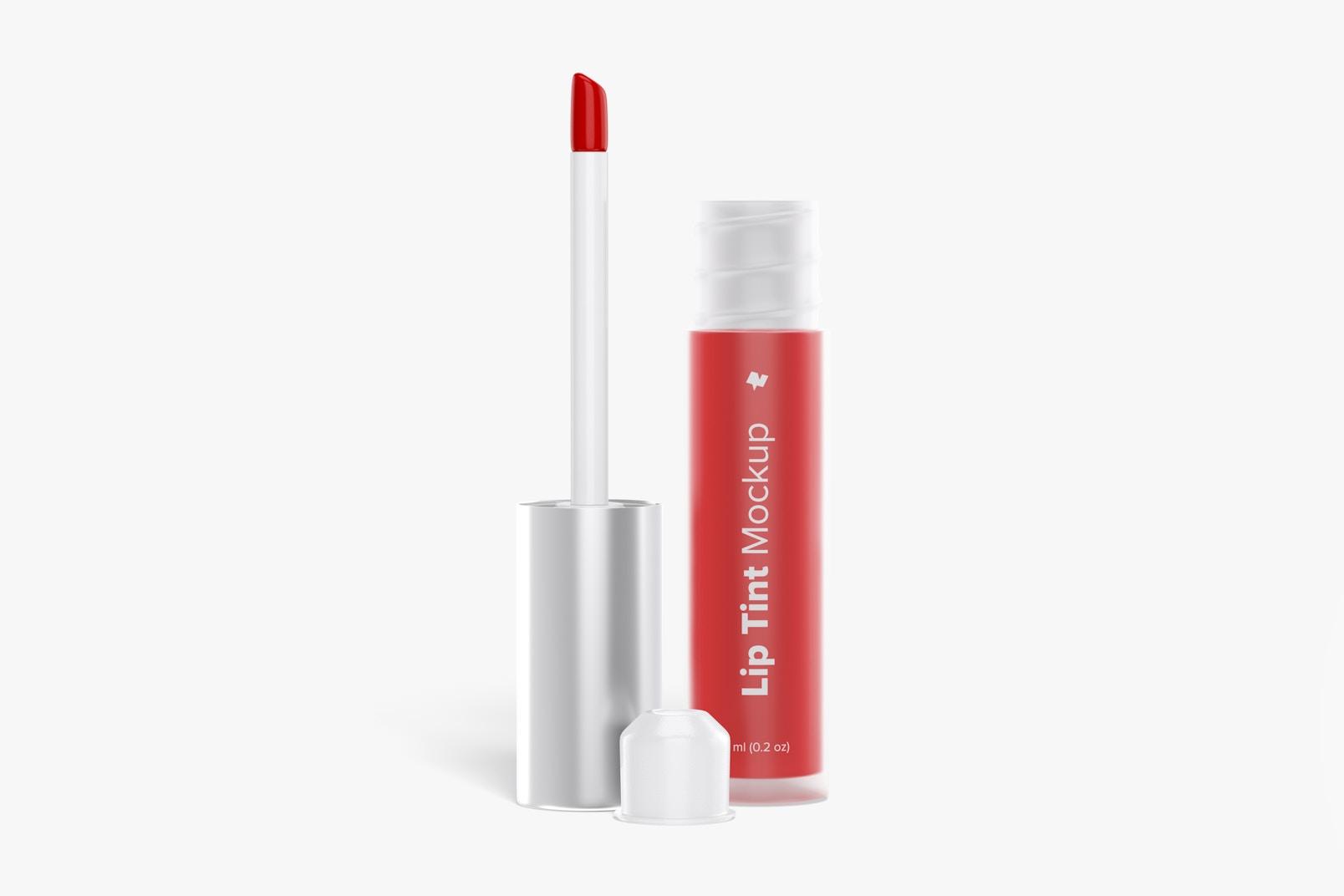 Lip Tint Tube Mockup, Opened