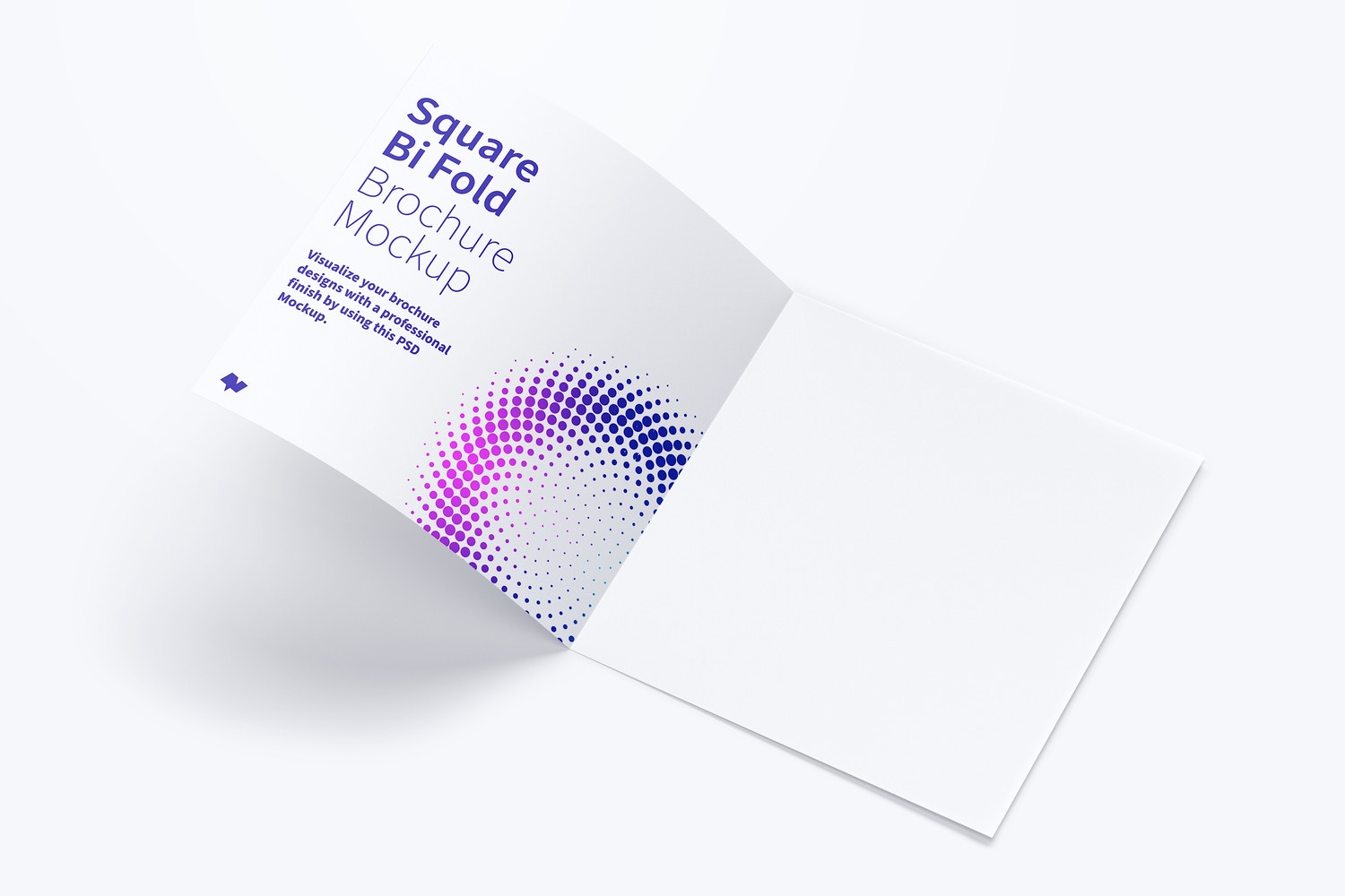 Square Bi Fold Brochure Mockup 02 by Original Mockups on Original Mockups