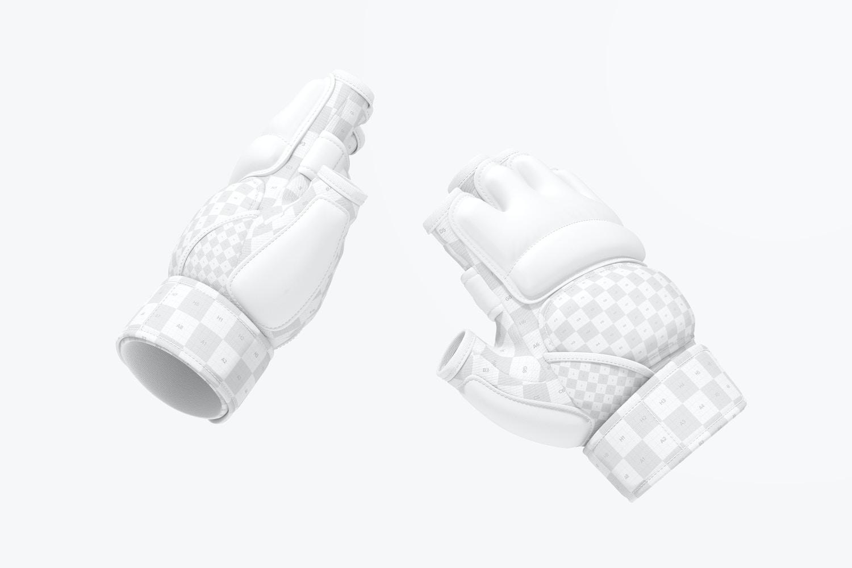 Taekwondo Gloves Mockup, Floating