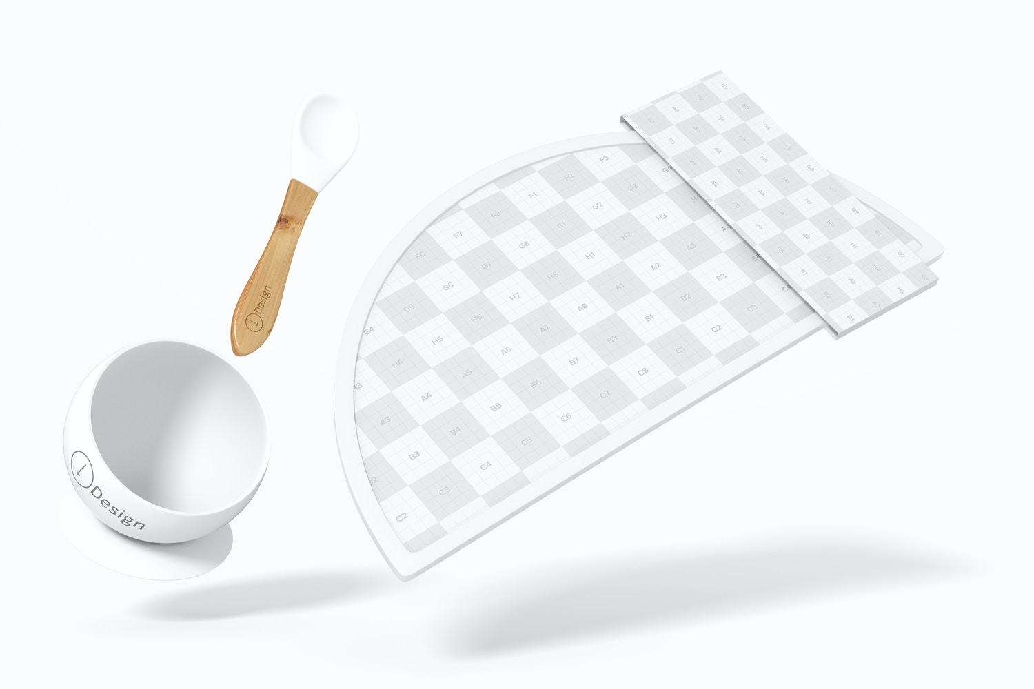 Silicone Baby Placemat Mockup, Falling