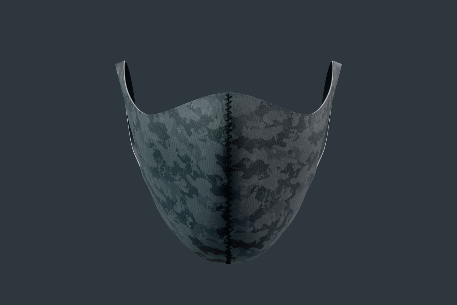 Neoprene Guard Face Mask Mockup, Front View 02