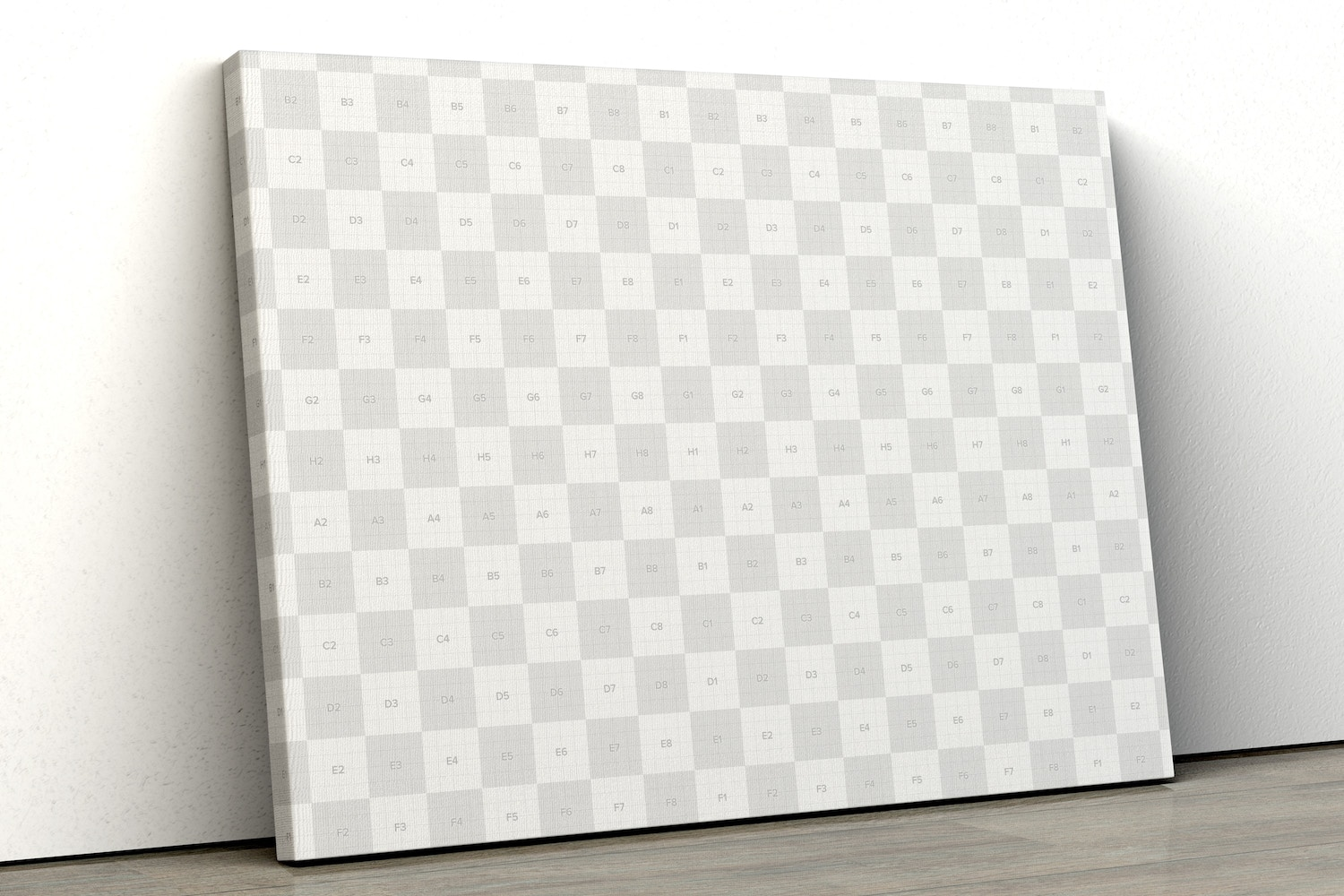 Landscape Canvas Mockup Leaning on Wall