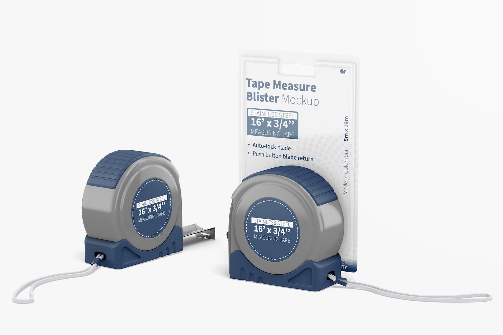 Tape Measure Blister Mockup