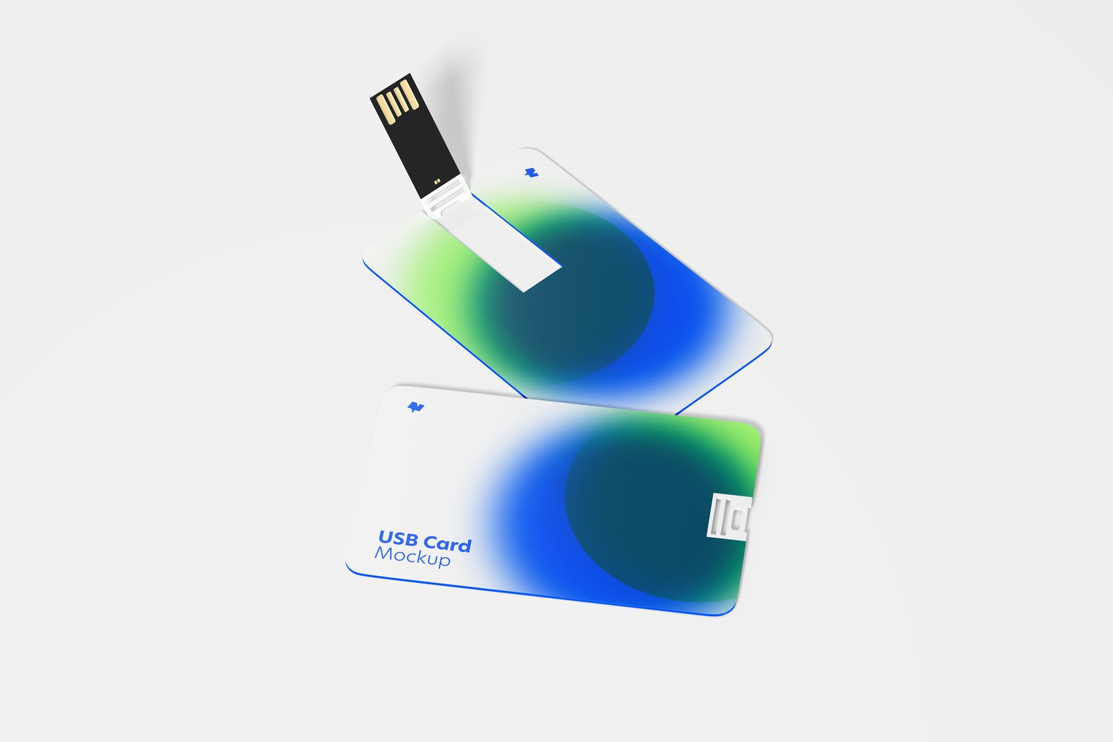 USB Cards Mockup, Front View