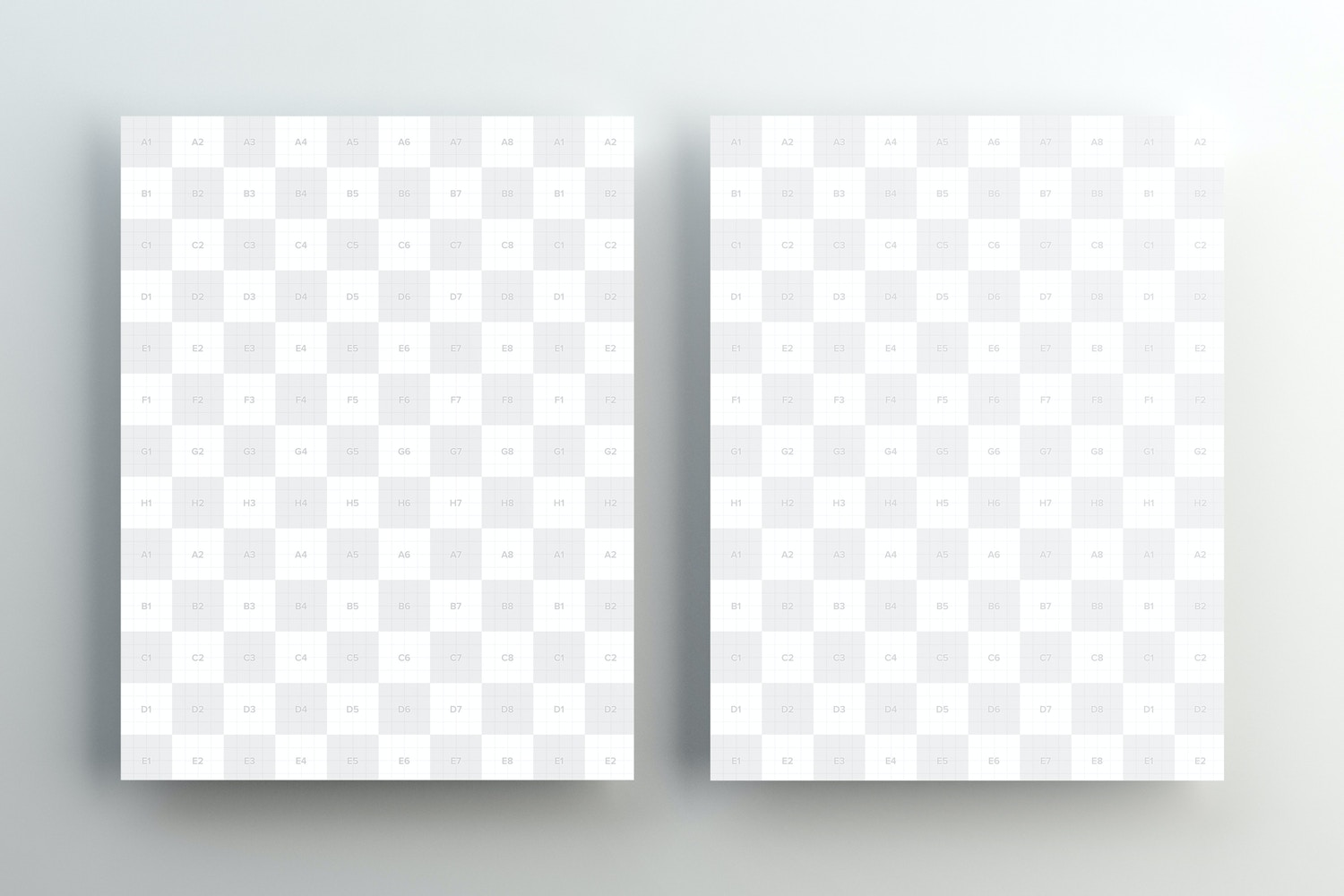 US Letter Papers Mockup