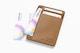 Leather Slim Wallet Mockup, Top View