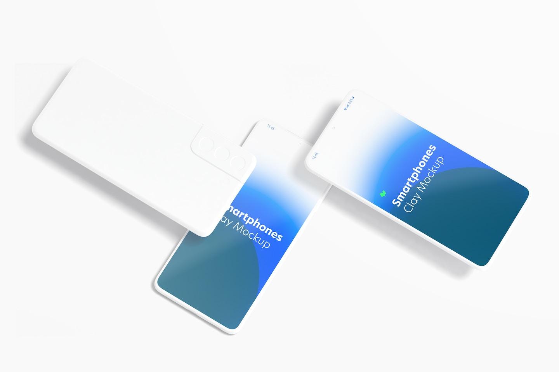 Clay Samsung S21 Mockup, Top View