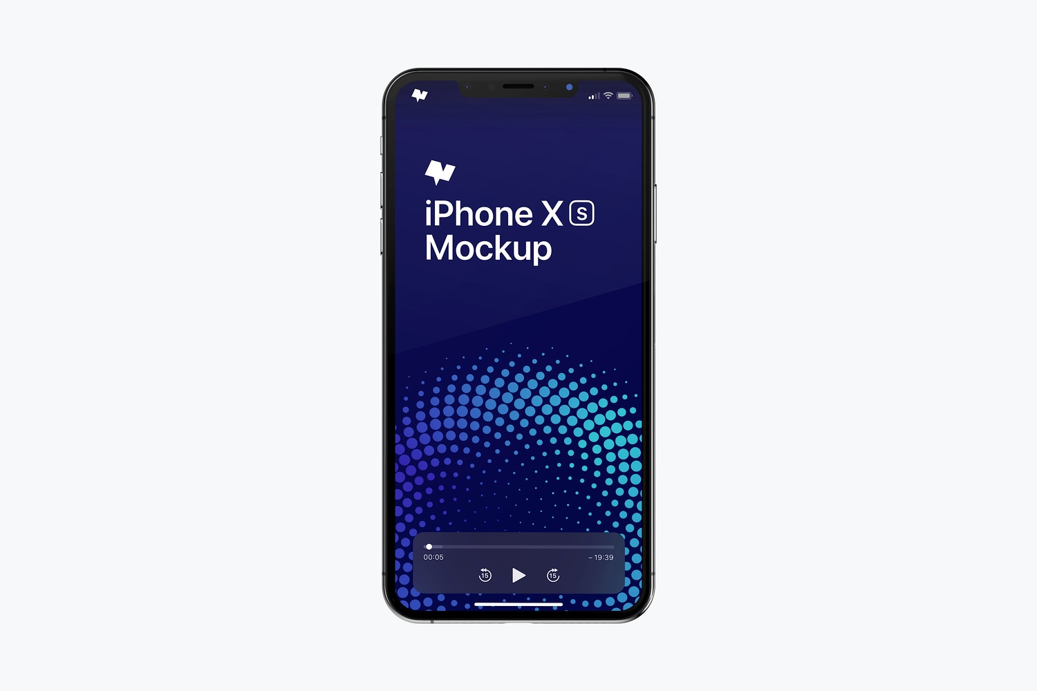 iPhone XS Max Mockup, Front View by Original Mockups on Original Mockups