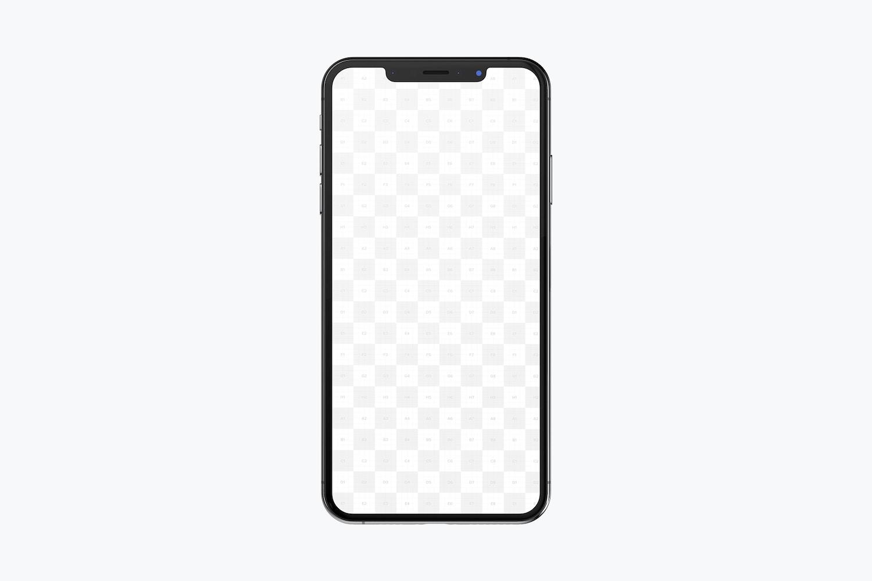iPhone XS Max Mockup, Front View (2) by Original Mockups on Original Mockups