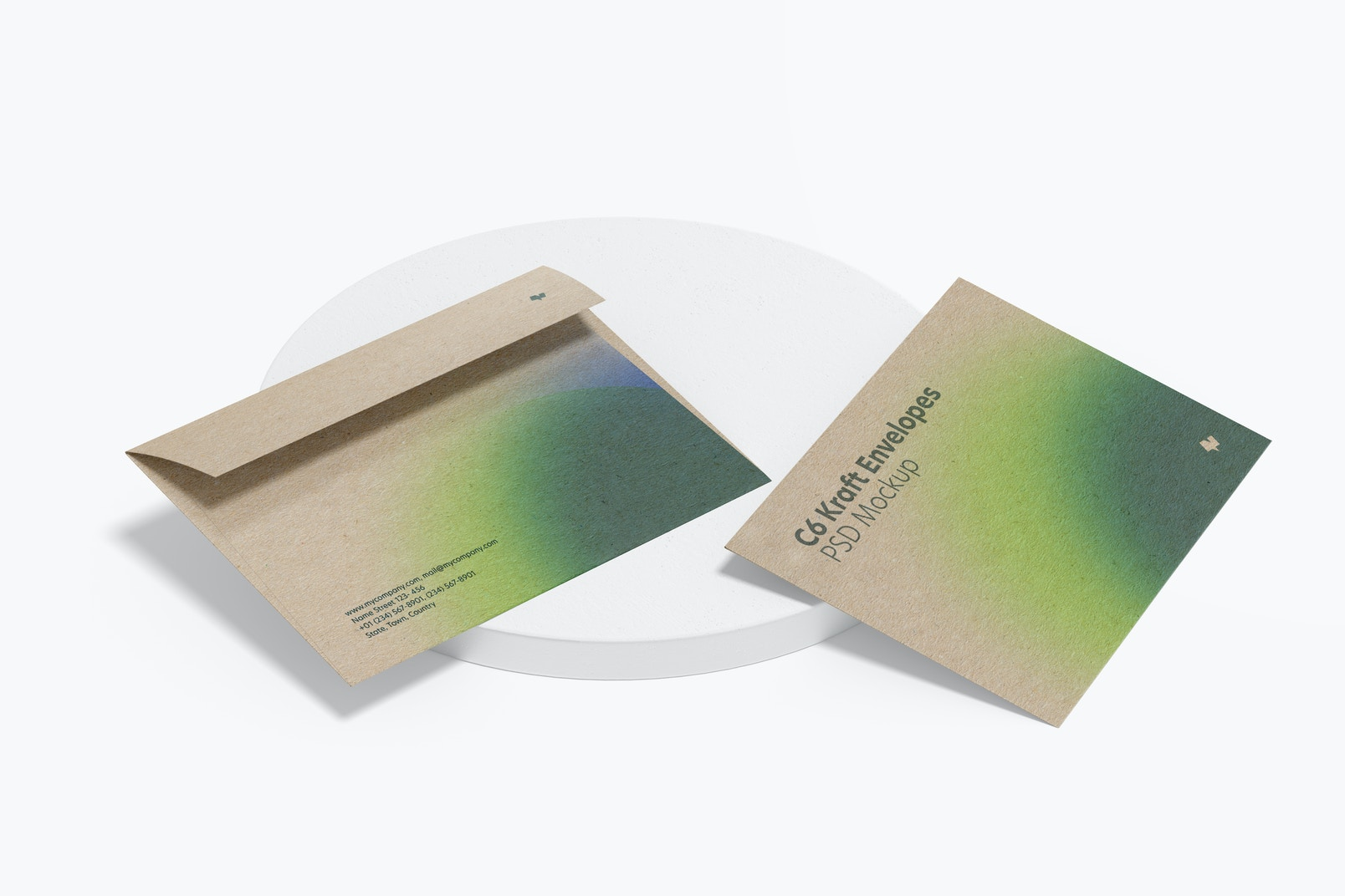 C6 Kraft Envelopes Mockup