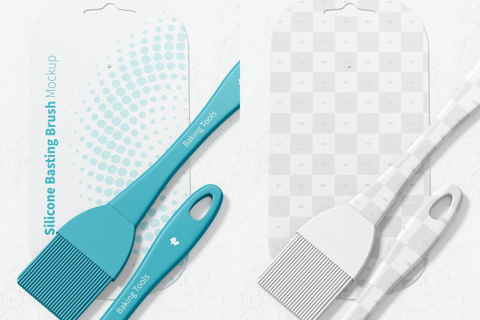 Silicone Basting Brushes Mockup, Close Up