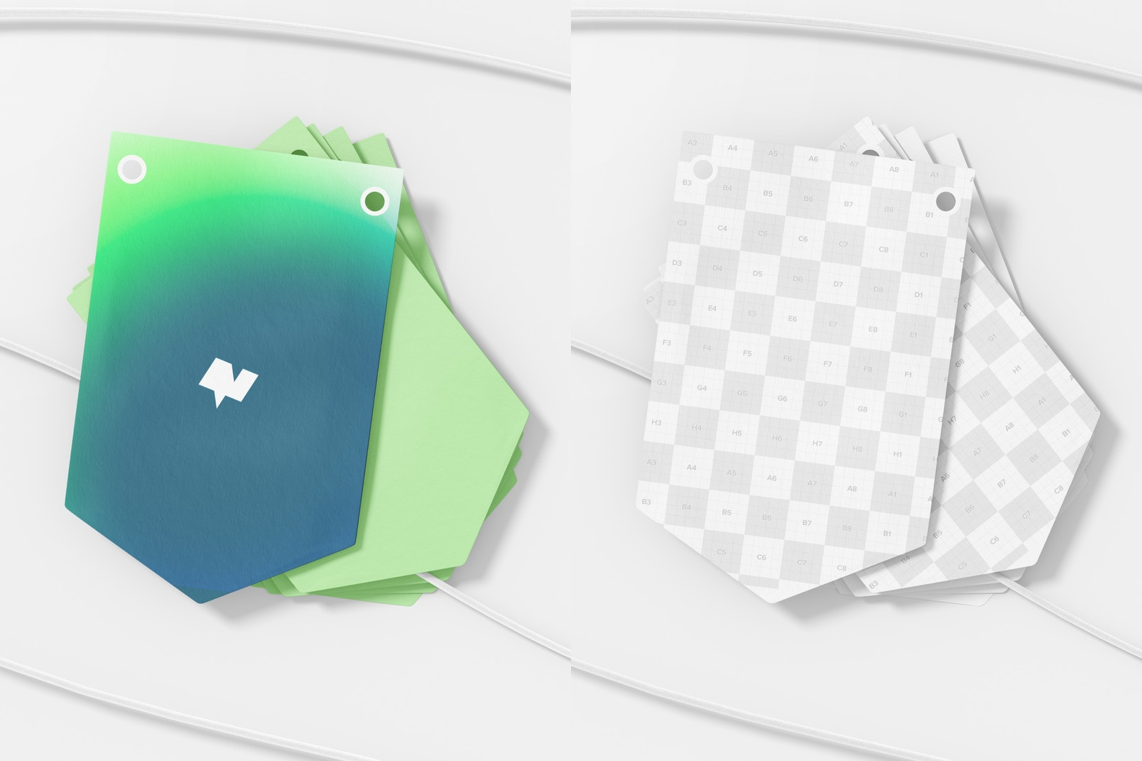 Pennant Banner Mockups, Stacked