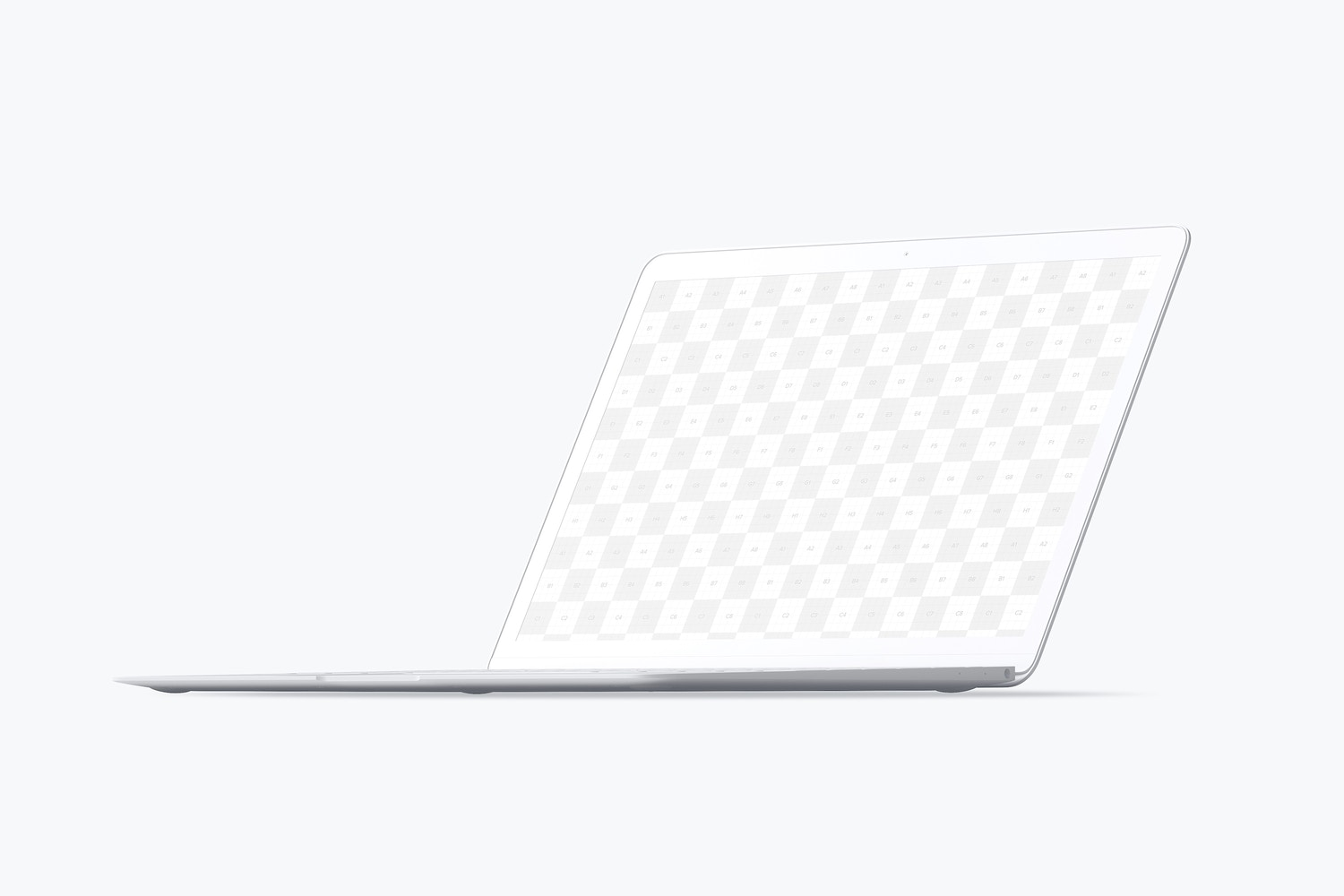 Clay MacBook Mockup, Front Right View (2) by Original Mockups on Original Mockups