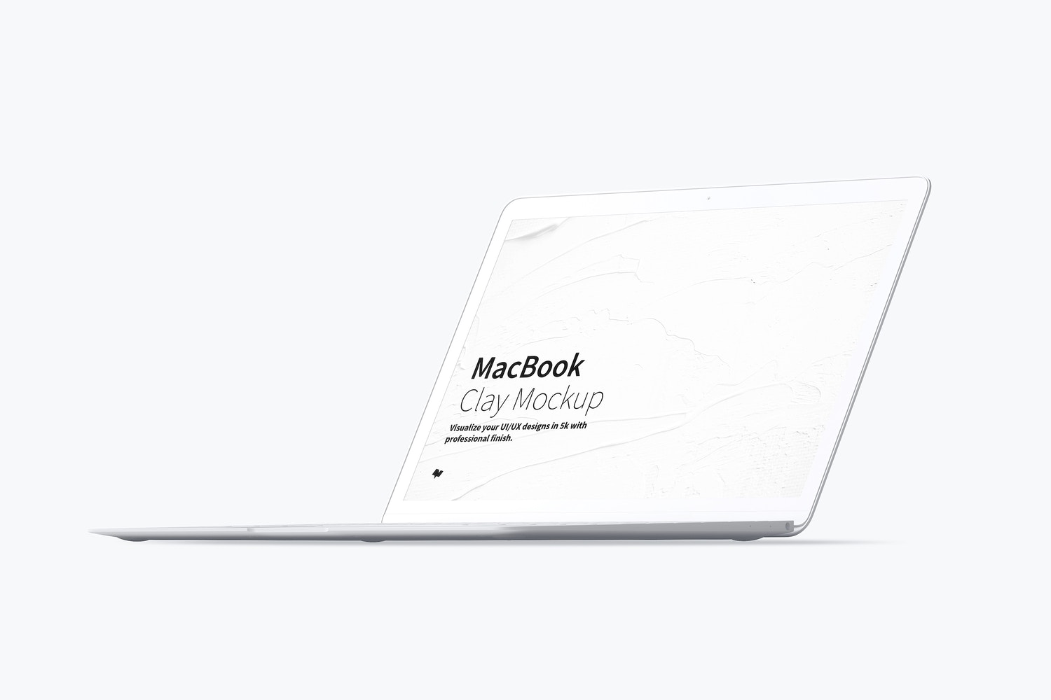 Clay MacBook Mockup, Front Right View by Original Mockups on Original Mockups