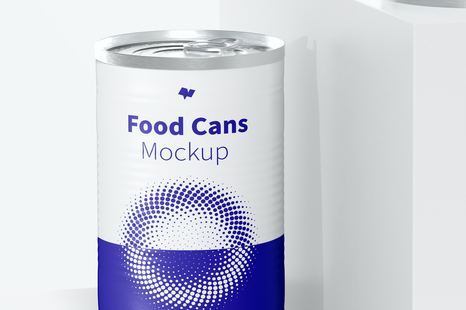 580g Food Cans Mockup, Front View