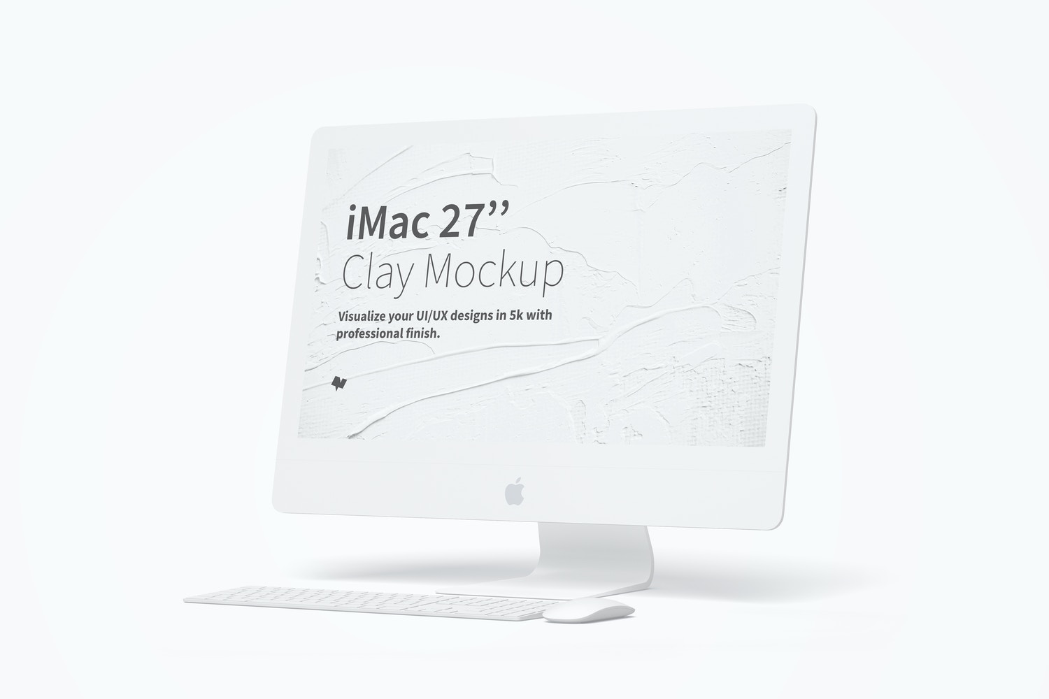 "Clay iMac 27"" Mockup, Right View by Original Mockups on Original Mockups"
