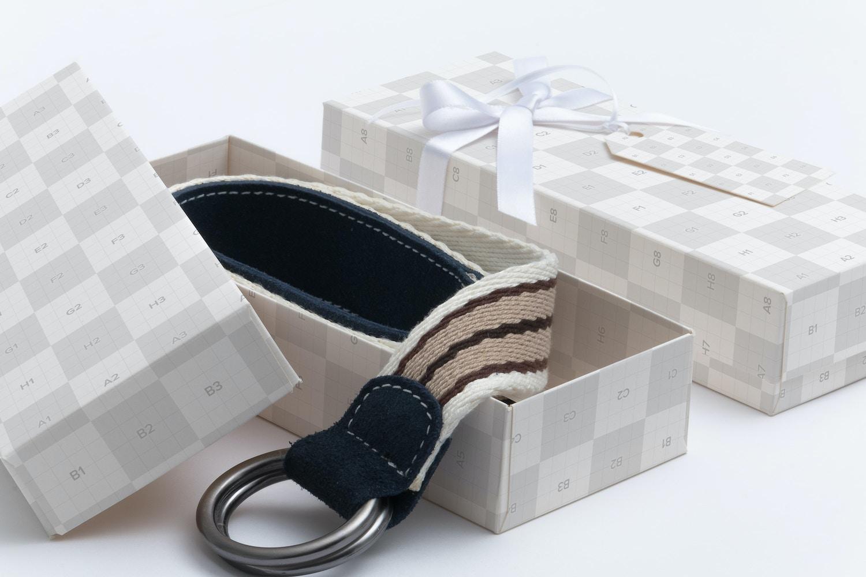 Rectangular Gift Box Mockup 02