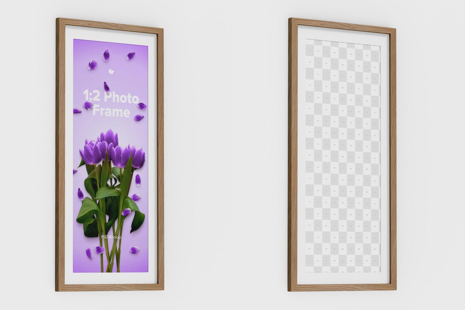 1:2 Photo Frame Mockup, Left View