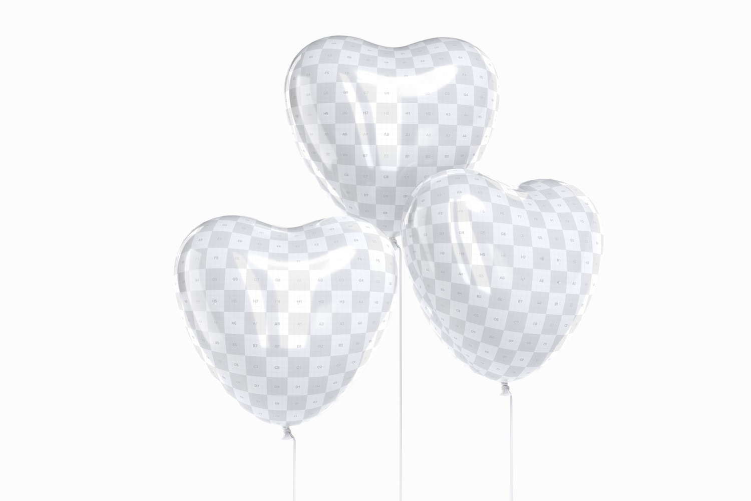 These balloons will look as cool as you want thanks to its Photoshop 3D Layers.