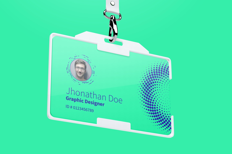 Horizontal ID Card Mockup 02