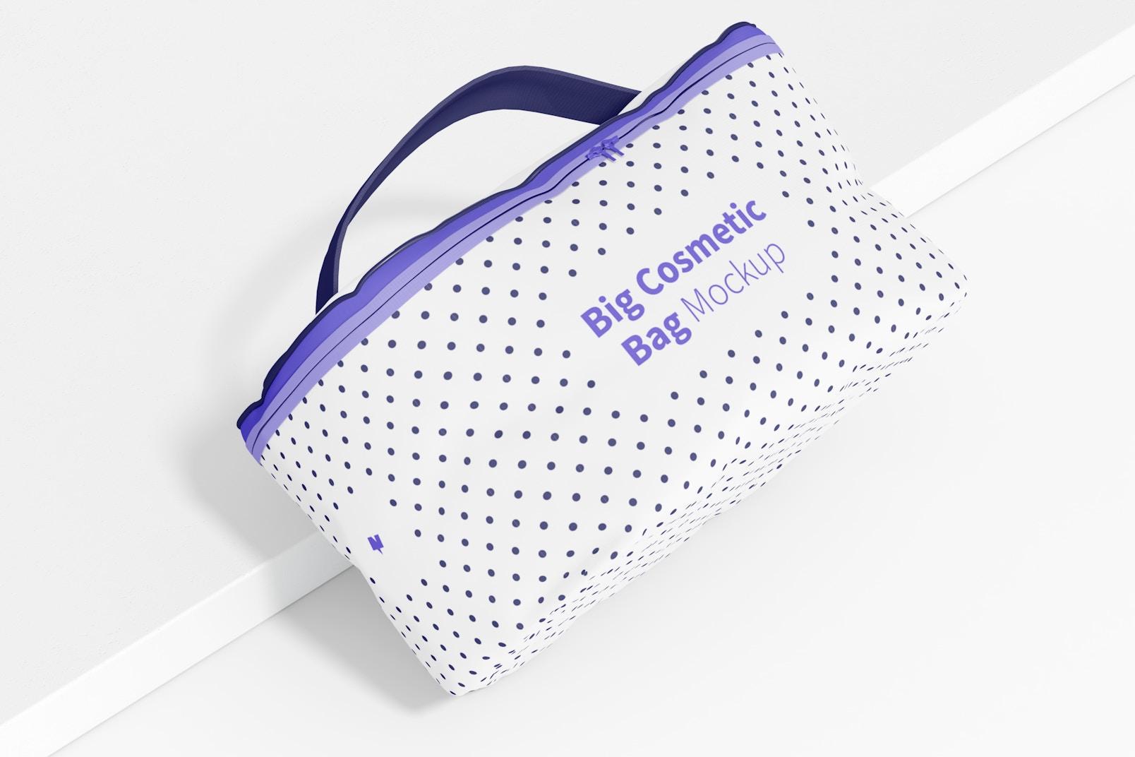 Big Cosmetic Bag Mockup, Top View
