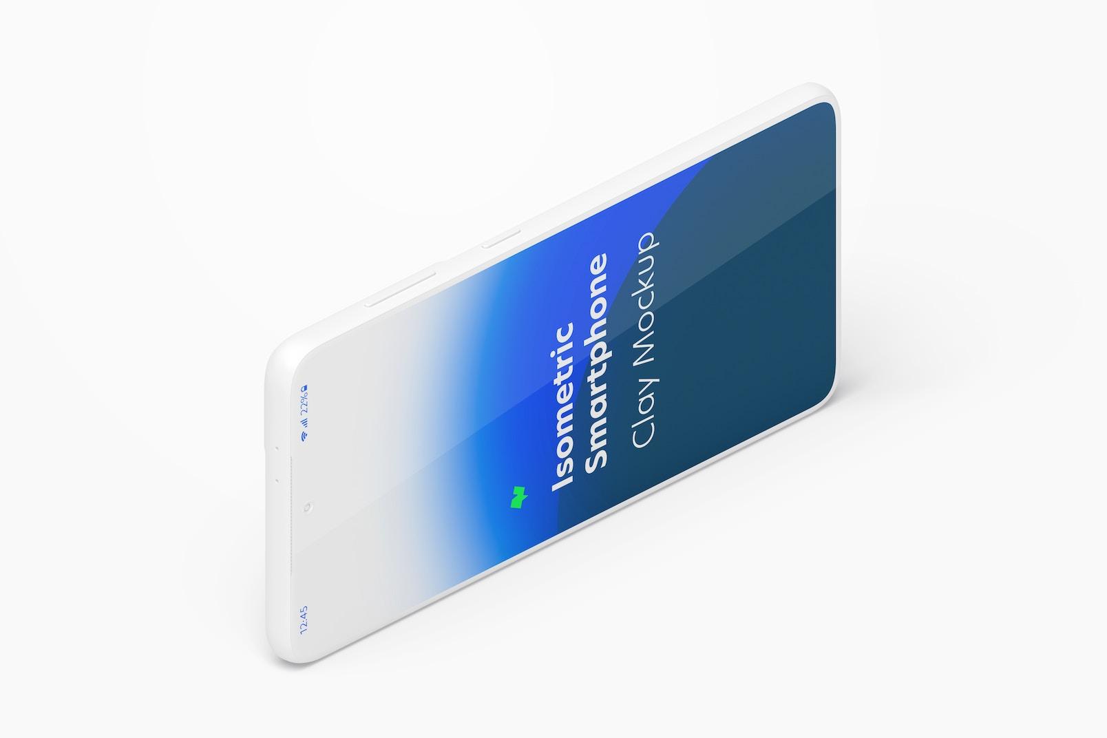 Maqueta de Samsung S21 Isométrico Multicolor, Vista Izquierda Horizontal