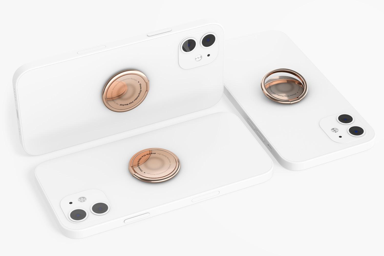 Phone Ring Holders Mockup