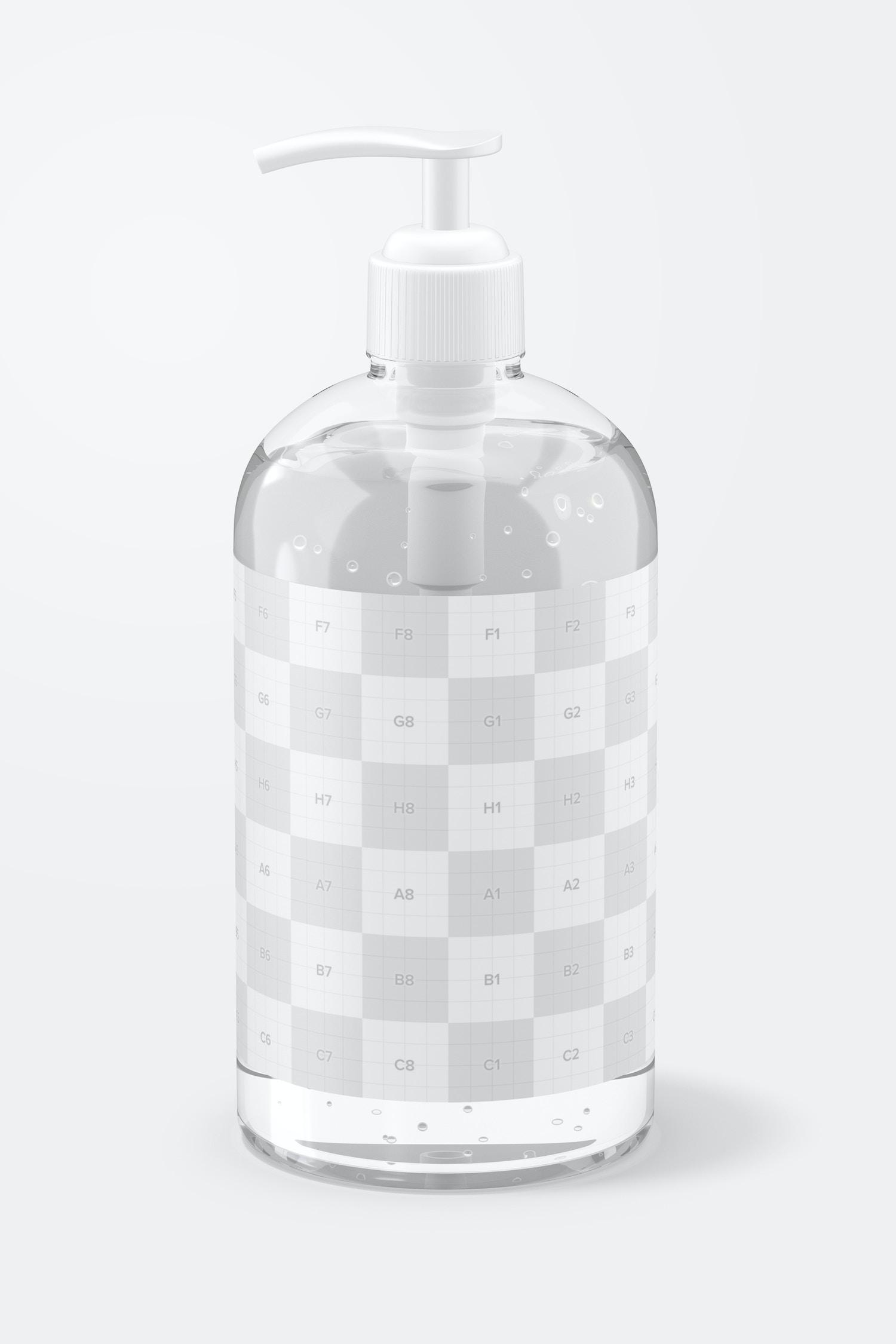 16 oz Sanitizing Gel Bottle Mockup, Left View