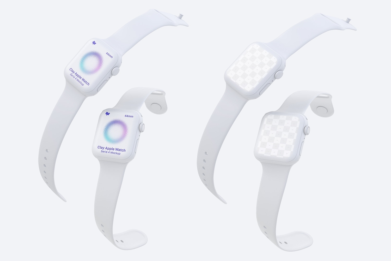Clay Apple Watch Series 4 (44mm) Mockup 04