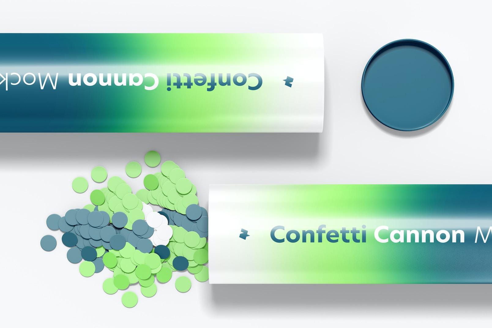 Confetti Cannon Mockup, Close-up